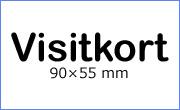 Storlek på visitkort - 90x55 mm